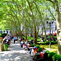 Summertime In Bryant Park by Ed Weidman