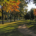 Summit Avenue In The Fall by Janis Beauchamp