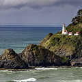 Sun After Storm At Heceta Head Lighthouse by Teri Virbickis