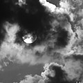 Sun And Clouds - Grayscale by Brian Wallace