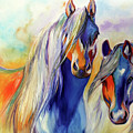 Sun And Shadow Equine Abstract by Marcia Baldwin