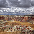 Sun Breaks And Passing Clouds Over Arizona's Remote Ha Ho No Geh Canyon. by Larry Geddis