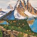 Sun Burst Peak Canada  by Sharon Duguay