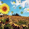 Sun Flowers Field by Riobom Santos