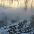 Sun Going Down On American Falls by Living Color Photography Lorraine Lynch