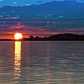 Sun Is Setting Over Port Hood Island by Ken Morris