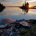 Sun On The Horizon, Harpswell, Maine  #99068-71 by John Bald