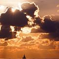 Sun Peek Sailboat by Lawrence S Richardson Jr