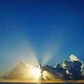 Sun Ray Sunrise by Lawrence S Richardson Jr