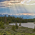 Sun Rays Filtering Through Clouds by Trina Dopp Photography