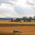 Sun Rays On Codori Farm. by Jen Goellnitz