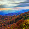 Sun Rays Over The Blue Ridge by Lynn Bauer