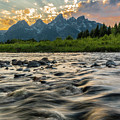 Sun Rays Over The Grand Tetons by Ben Ford