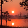 Sun Rise At Red Lake Grayton Beach State Park Florida by John Harmon