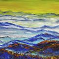 Sun Rise Blue Mountain by Sun Sohovich