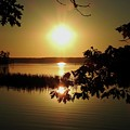 Sun Rise, Hamlin Lake Photograph by David K Myers