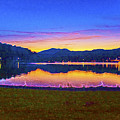 Sun Set On Lake Lure by Mark Van Martin