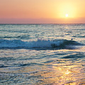 Sun Sets Over Seven Mile Beach by Jo Ann Snover
