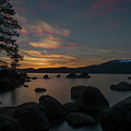 Sun Setting At End Of Day At Lake Tahoe by Dan Friend
