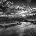 Sun Setting On The Owens River by Barbara Hayton