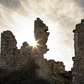 Sun Shining Through A Derelict Building At Occi In Corsica by Jon Ingall