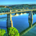 Sun Up Reflections Chattanooga Tennessee by Reid Callaway