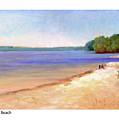 Sunapee Beach by Betsy Derrick