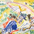 Sunbathing by Ernst Ludwig Kirchner