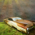 Sunbeams On A Classic Cadillac by Debra and Dave Vanderlaan