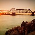 Sunbeams Through Iron Work Over The Niagara by Chris Bordeleau