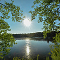 Sunburst Over The Reservoir by Joan D Squared Photography