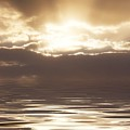 Sunburst Over Water by Bill Cannon