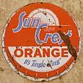 Suncrest Orange Soda Cap Sign by Dutch Bieber