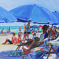 Sunday Beach Blues by Candace Lovely