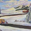 Sunday Drive In Winter Wonderland by Sharon Coray