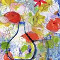 Sunday Market Flowers- Art By Linda Woods by Linda Woods