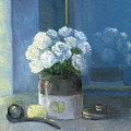 Sunday Morning And Roses - Blue by Marlene Book