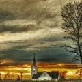 Sunday Sunset by Larry Nyman