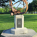 Sundial At American Legion Post, Indianapolis, Indiana by Steve Gass