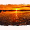 Sundown At Low Tide 2 by John M Bailey