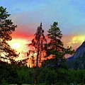 Sundown In Yellowstone by Jeanie Mann
