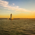 Sundown Lighthouse by Jody Lane