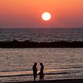 Sundown On Tel Aviv Beach by Paco Feria