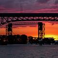Sundown On The Cuyahoga River by Dale Kincaid