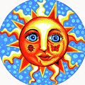 Sunface With Ladybug by Genevieve Esson