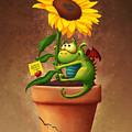Sunflower and Dragon by Tooshtoosh