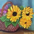 Sunflower Basket by Esperanza Arato