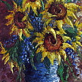 Sunflower Bouquet by David G Paul