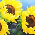 Sunflower Foursome by Carol Reynolds