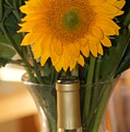 Sunflower In A Bottle Or Is It  Vase. by Liz Vernand